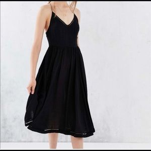 Cooperative black strappy dress Urban Outfitters